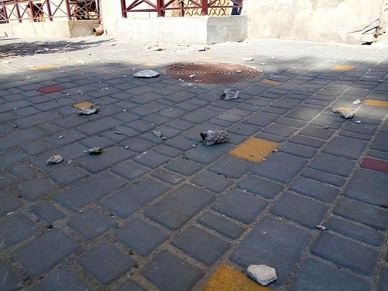 В центре Одессы перекрыли тротуар из-за обрушения (ФОТО), фото-1