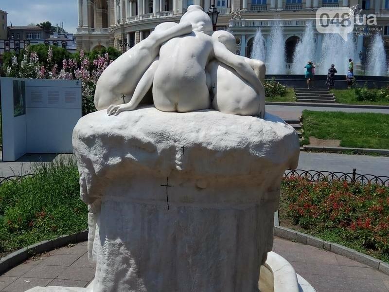 Вандалы покусились на уникальный фонтан в центре Одессы (ФОТО), фото-5