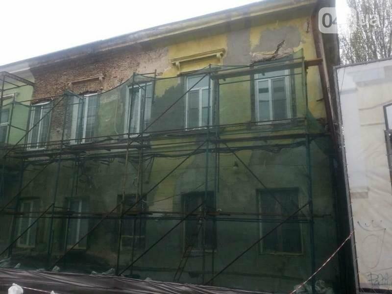 Возле одесского дома с одной стеной опозорились реставраторы (ФОТО), фото-1
