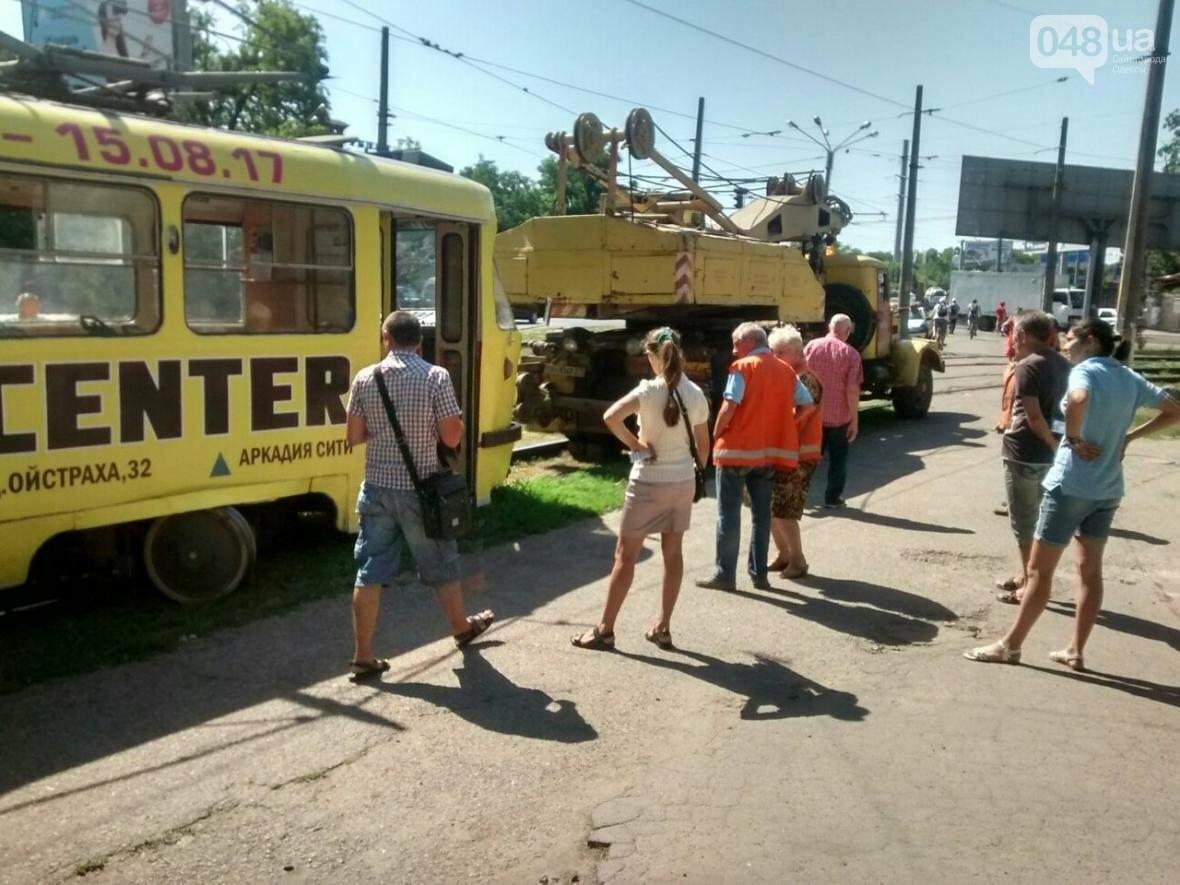 В Одессе трамвай сошел с рельсов (ФОТО), фото-1