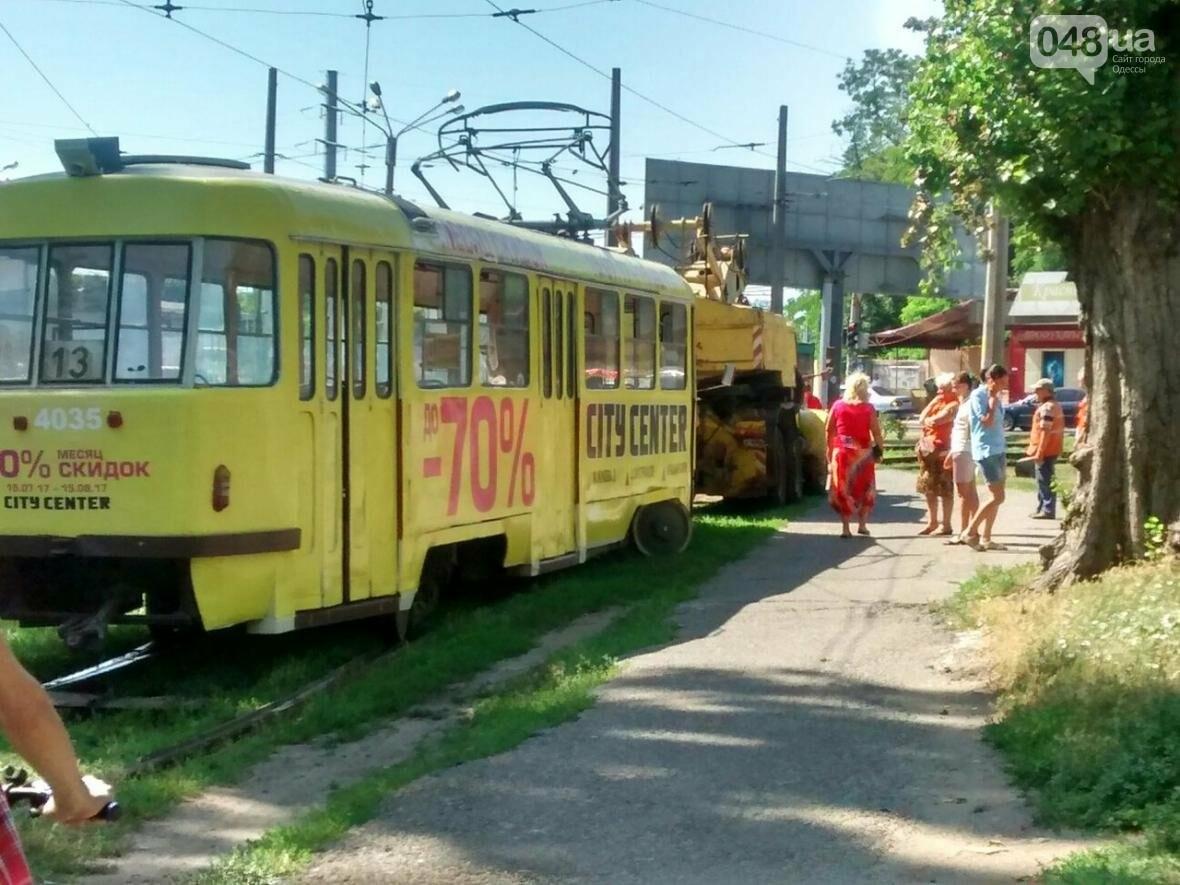 В Одессе трамвай сошел с рельсов (ФОТО), фото-2
