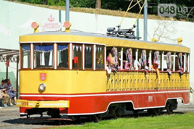 По Одессе катали детей в ретро-трамвае (ВИДЕО, ФОТО), фото-1