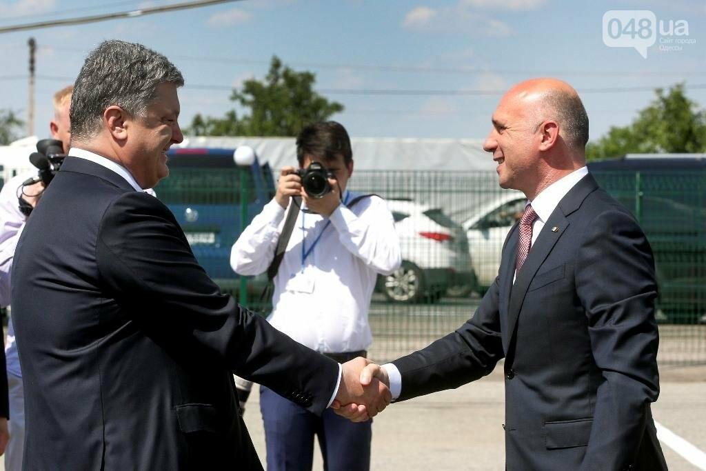 В Одесской области президент Украины и премьер Молдовы открыли совместный погранконтроль (ФОТО), фото-1