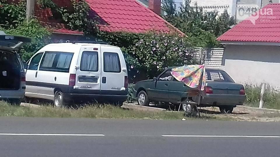 Под Одессой российские туристы снимают со своих автомобилей номера (ФОТО), фото-2