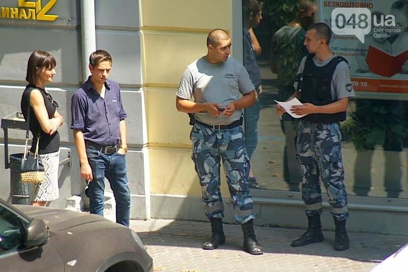 Срочно! В центре Одессы возле банка открыли стрельбу (ФОТО), фото-2