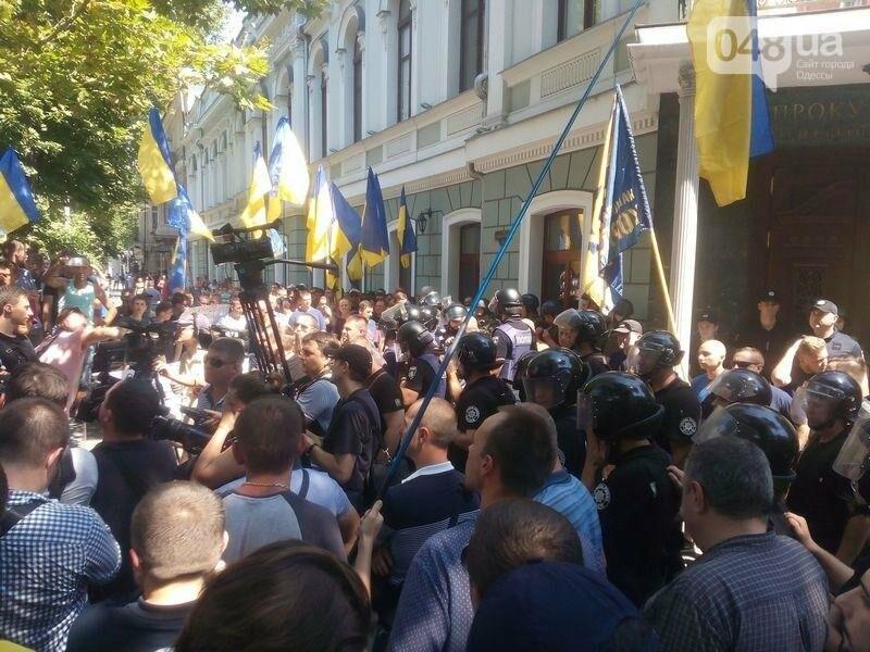 Под одесской прокуратурой столкнулись два митинга: их сдерживает полиция (ФОТО), фото-6