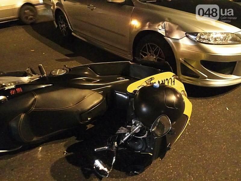 В центре Одессы произошла авария: пострадал мотоциклист (ФОТО, ВИДЕО), фото-4