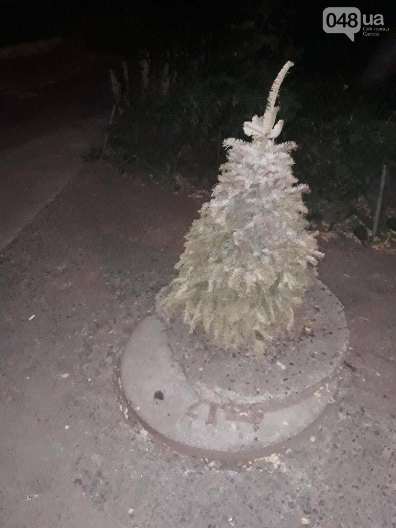 Одессит в пекло вынес новогоднюю елку на улицу (ФОТО), фото-1