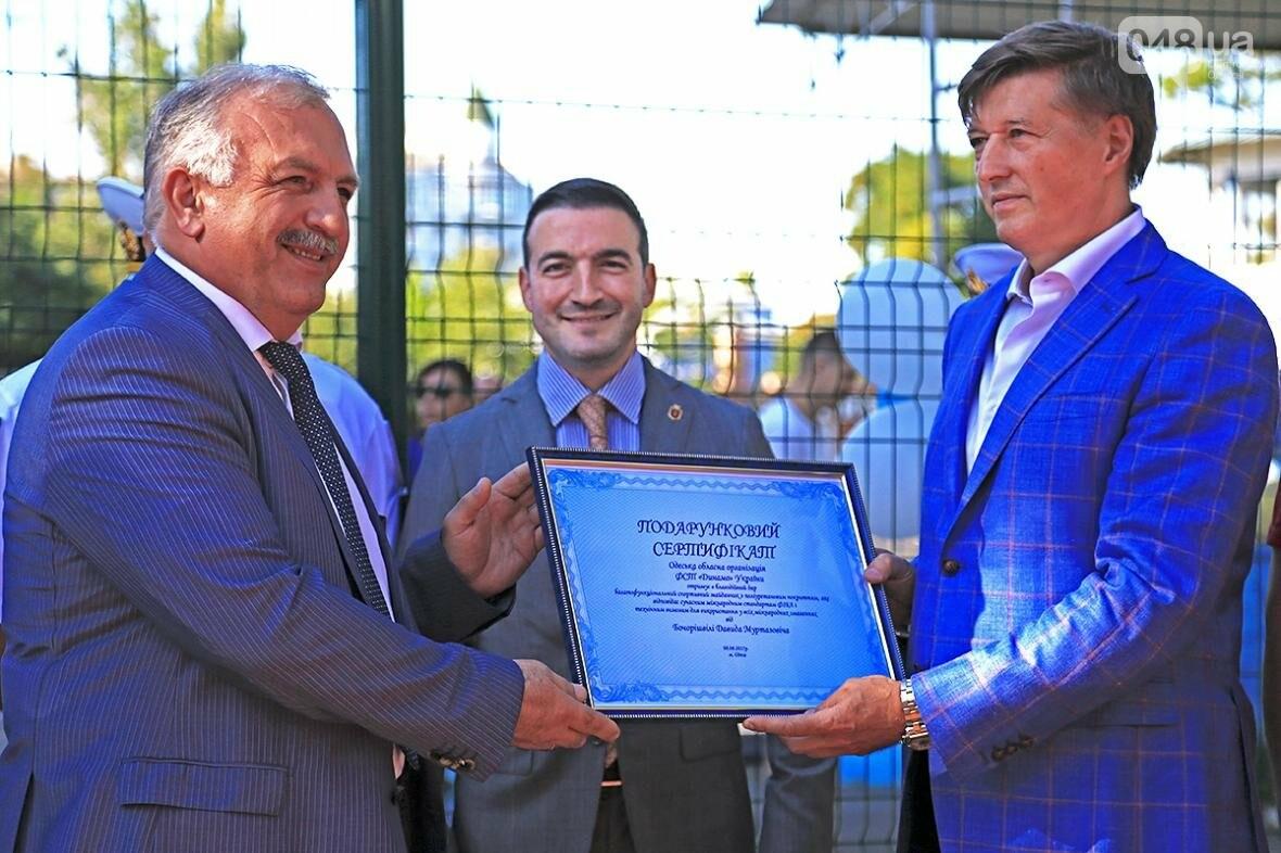 """На стадионе """"Динамо"""" открыли новую спортивную площадку: Президент компании """"ЗАРС"""" подарил ее одесситам., фото-1"""