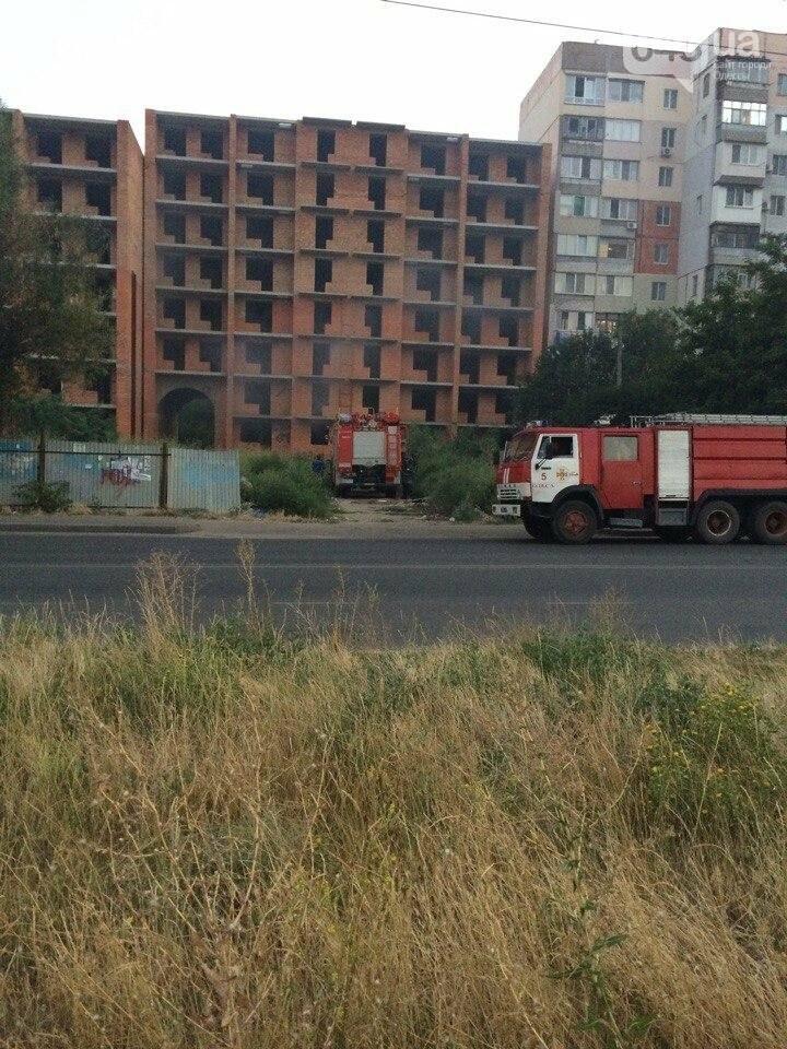 В Одессе снова горела злополучная стройка, фото-1