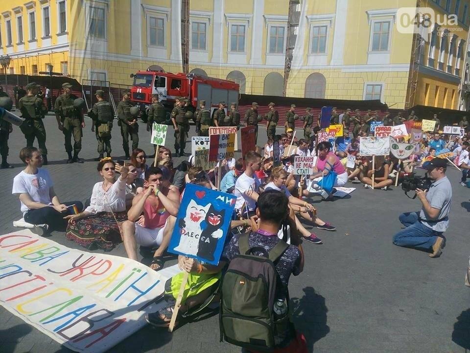 "Одесский ""Прайд"" зашел в тупик: участники парада объявили сидячий протест (ФОТО, ВИДЕО), фото-3"