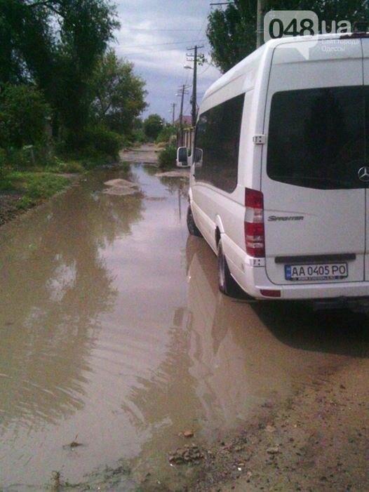 В одесской Лузановке после дождя затопило фекалиями частный сектор (ФОТО), фото-1