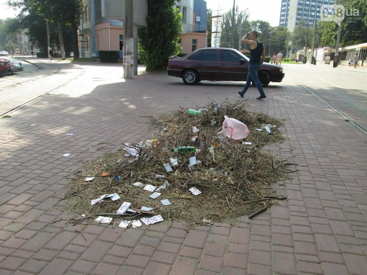 В центре Одессы коммунальщики отказываются убирать мусор (ФОТО), фото-18