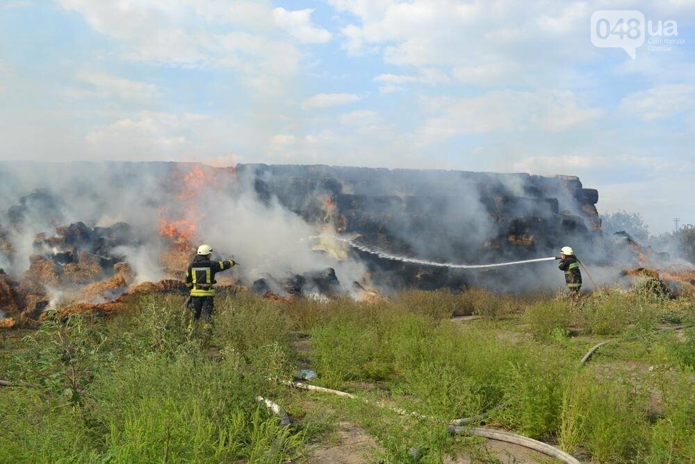 Под Одессой пожарные и солдаты спасали горящую солому (ФОТО), фото-1