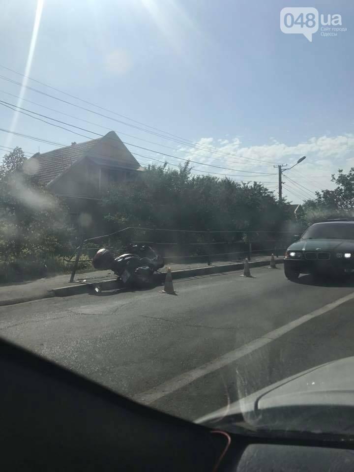Под Одессой легковушка сбила мотоцикл (ФОТО), фото-1