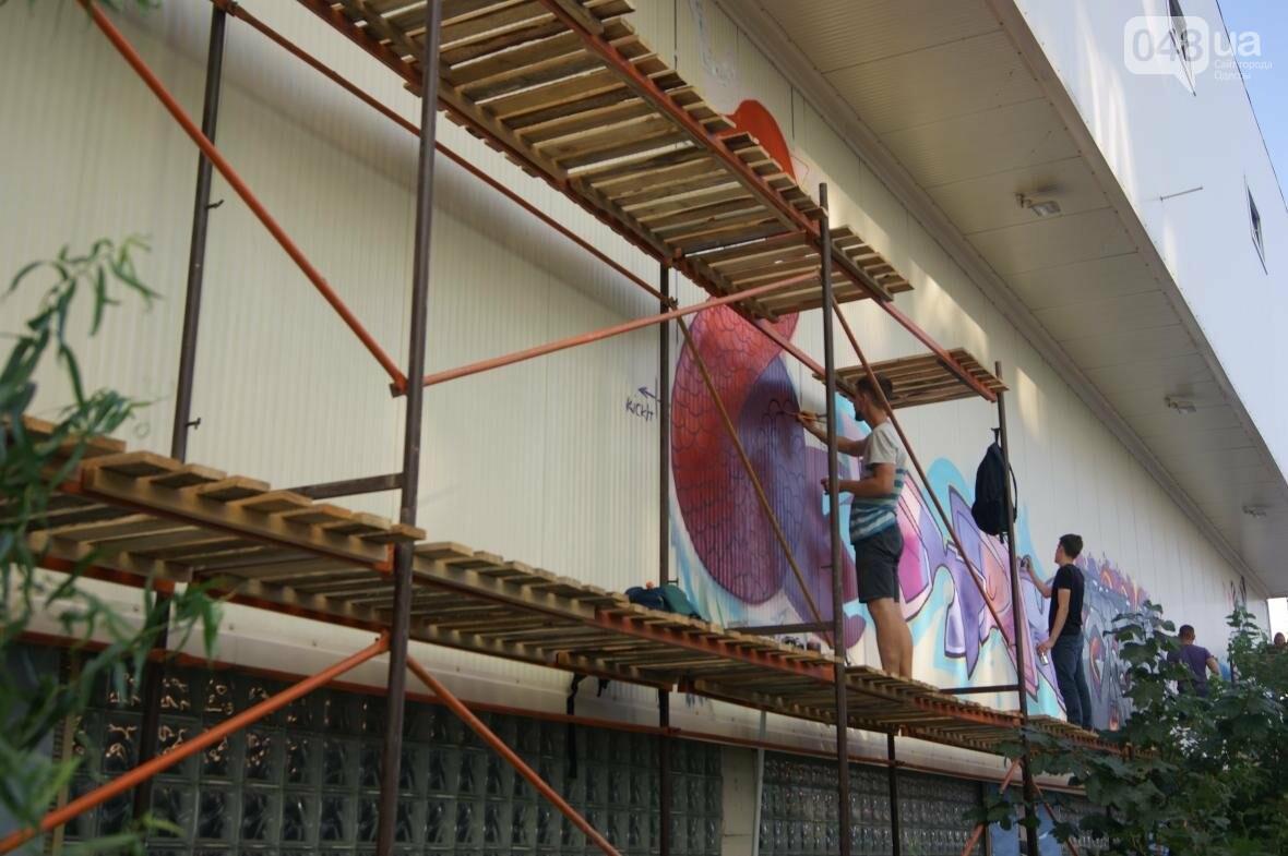 Это смело: Как граффитчики за сутки изменили торговый центр в Одессе (ФОТО, ВИДЕО), фото-7