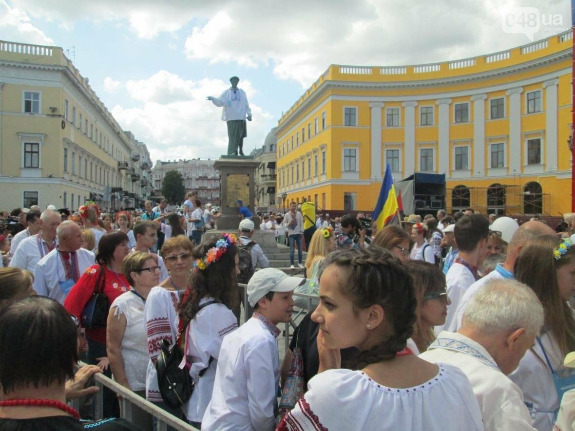 Дюк в вышиванке и неудачный рекорд: одесситов объединила любовь к Украине (ФОТО, ВИДЕО), фото-11