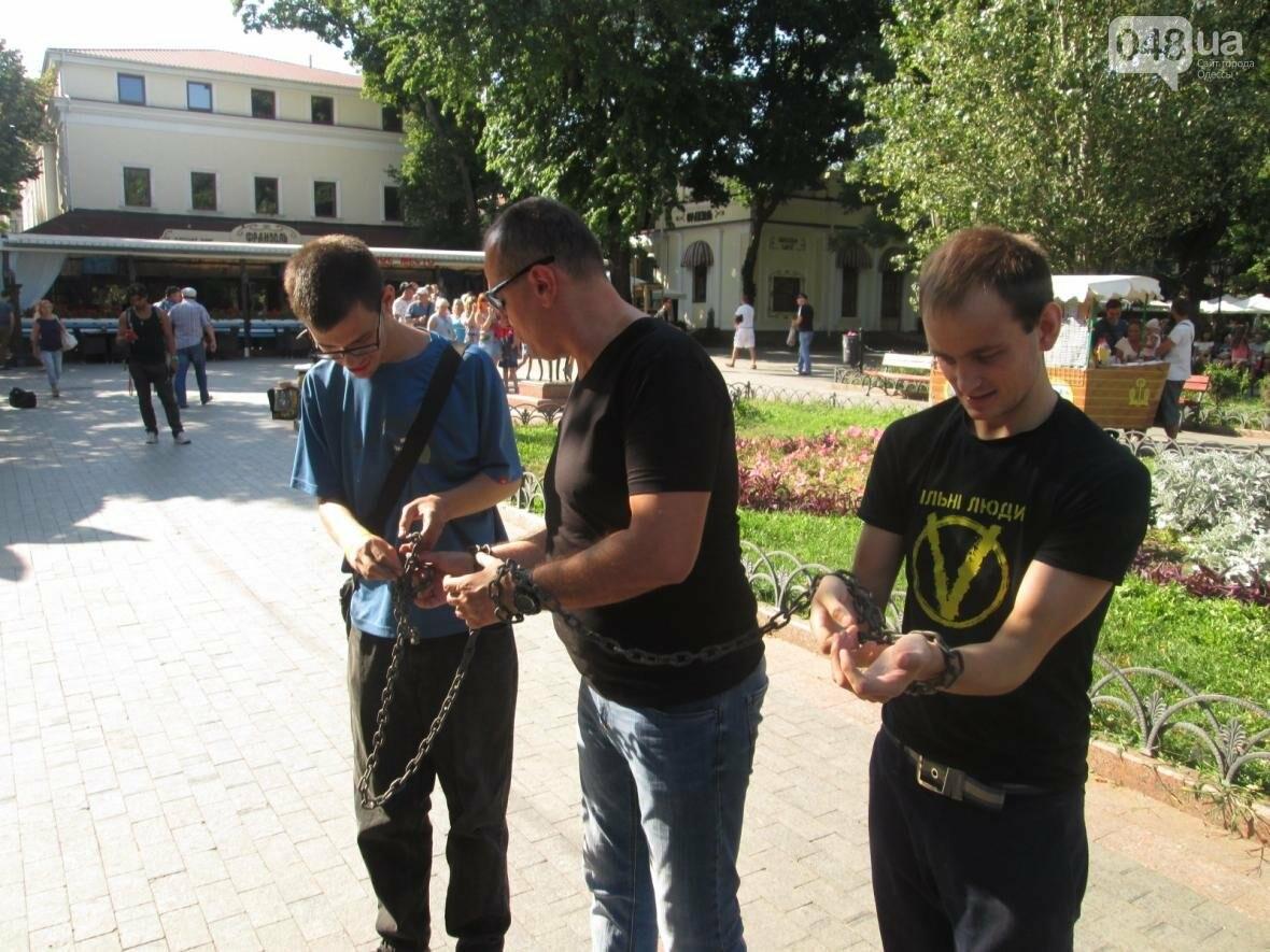 В центре Одессы патриотов сковали в цепи (ФОТО, ВИДЕО), фото-7