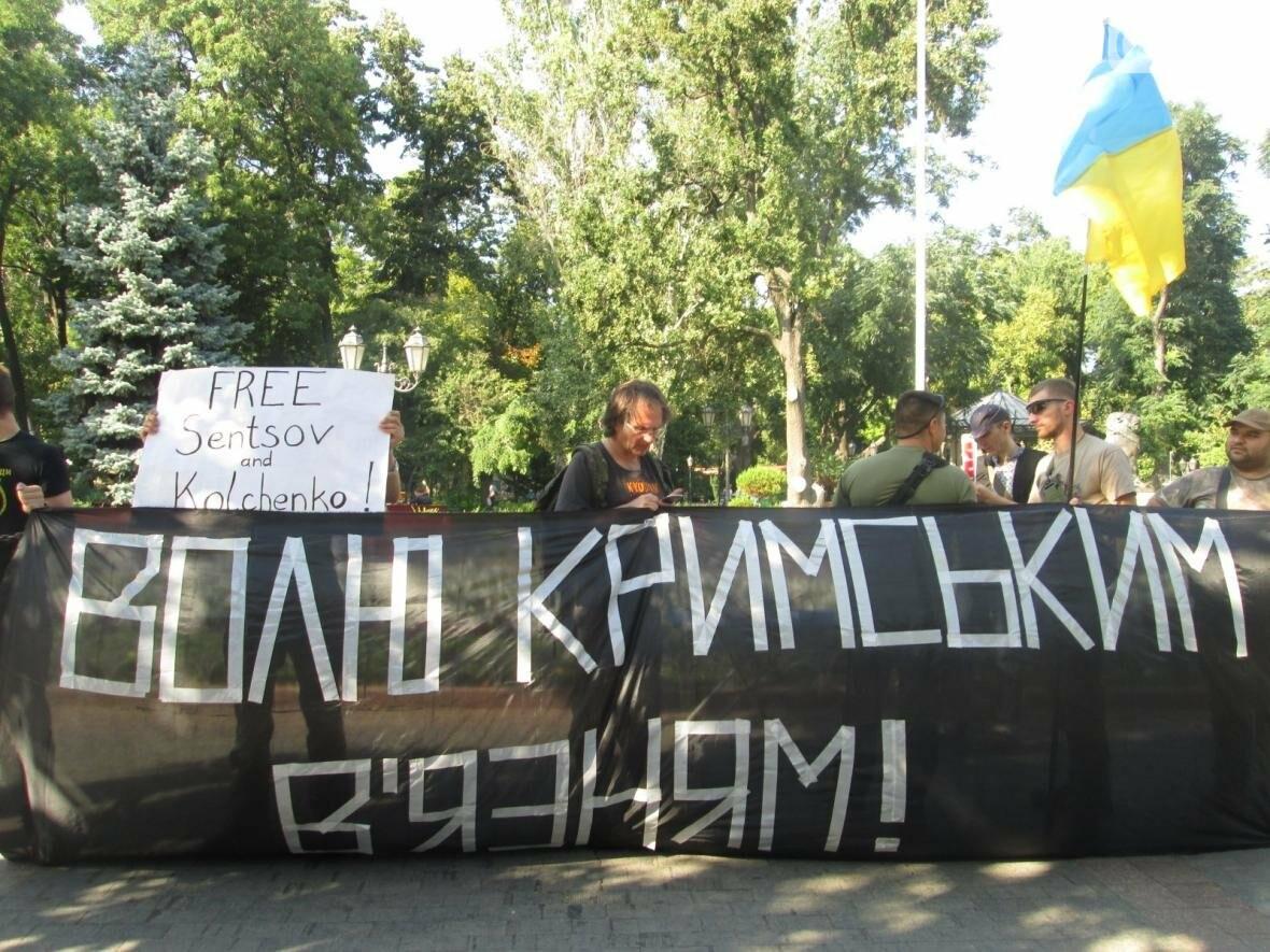 В центре Одессы патриотов сковали в цепи (ФОТО, ВИДЕО), фото-10