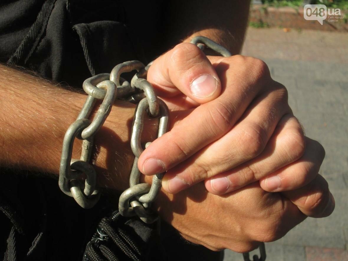 В центре Одессы патриотов сковали в цепи (ФОТО, ВИДЕО), фото-2
