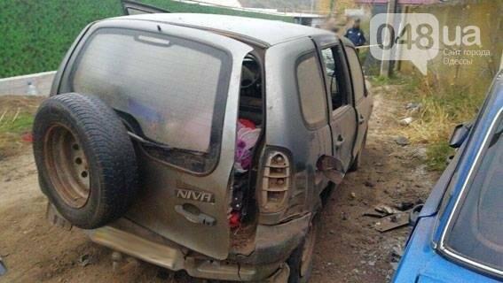 Под Одессой взорвался автомобиль с человеком внутри (ФОТО), фото-1