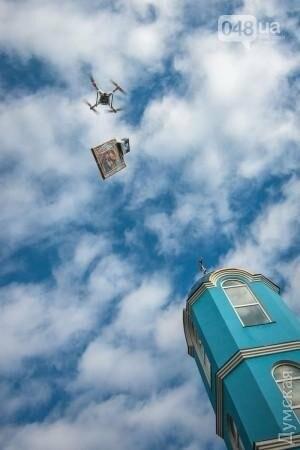 Крестный ход заменили крестным полетом в Одесской области (ФОТО), фото-8