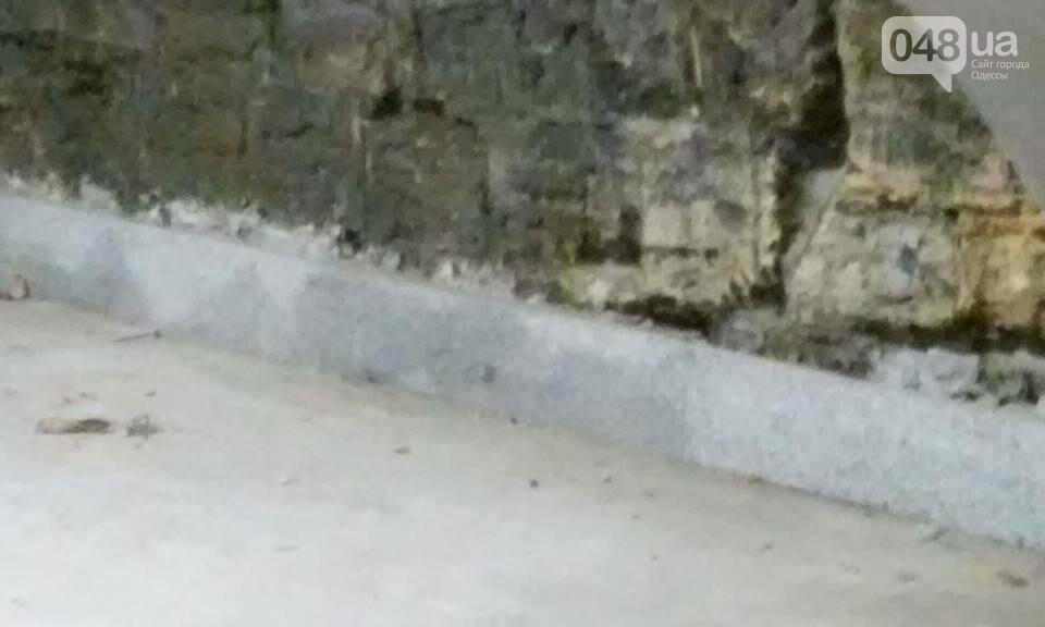 Одессит сфотографировал, как рушится Потемкинская лестница после дождя (ФОТО), фото-1