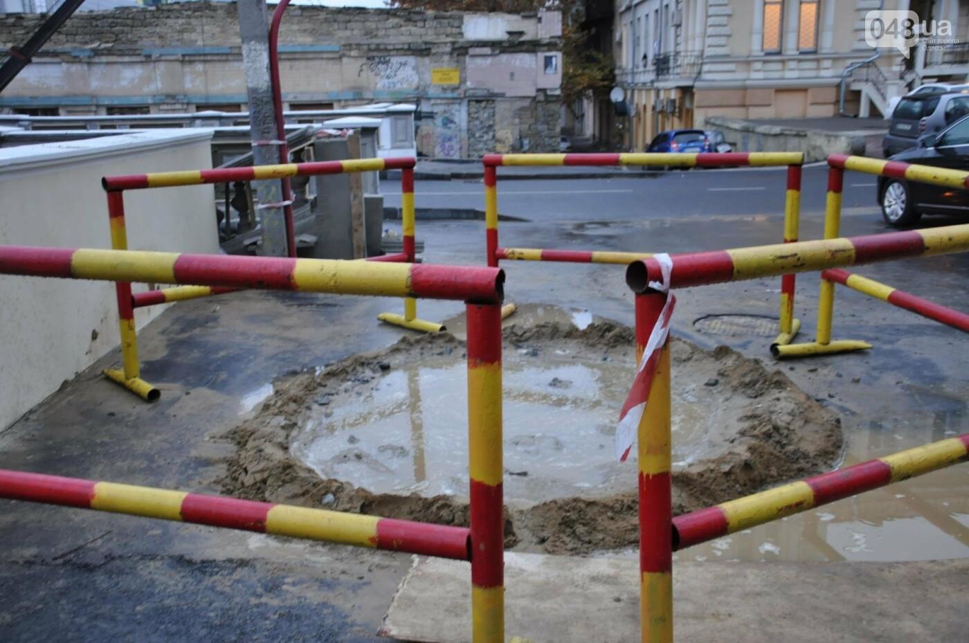 На реконструируемом мосту в Одессе провалился свежий асфальт (ФОТО), фото-2