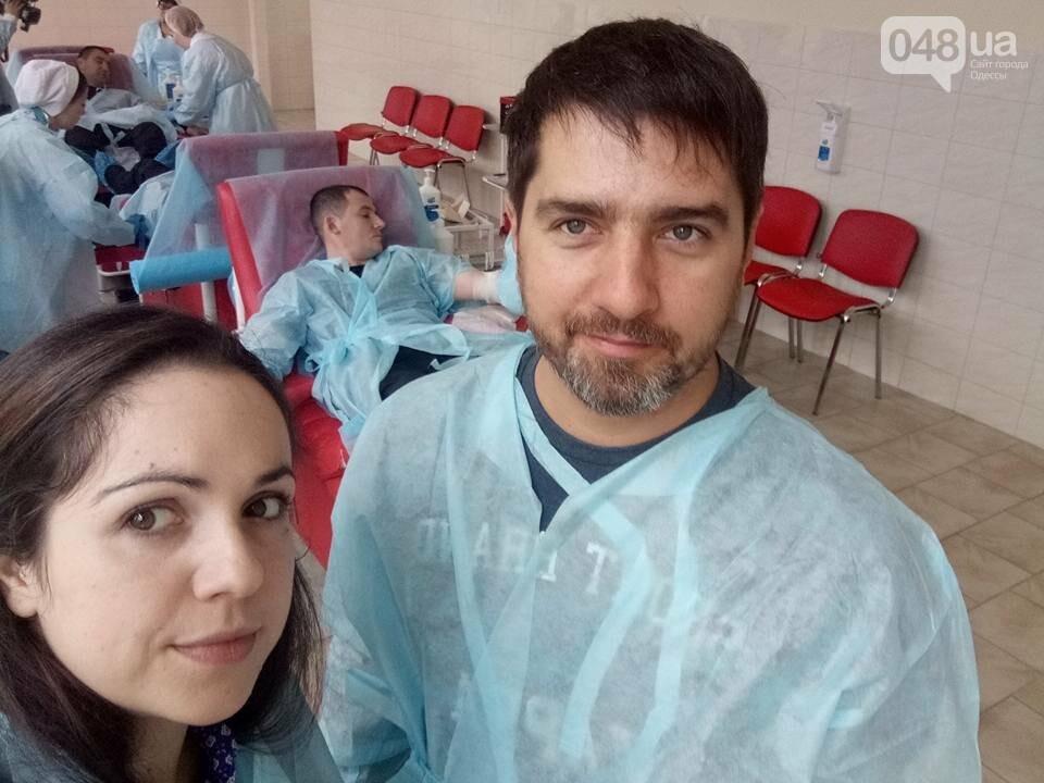 В Одессе полицейские и журналисты сдали кровь для тяжело раненых (ФОТО) , фото-1
