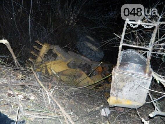 В гористой части Одесской области в пропасть упал трактор, фото-1