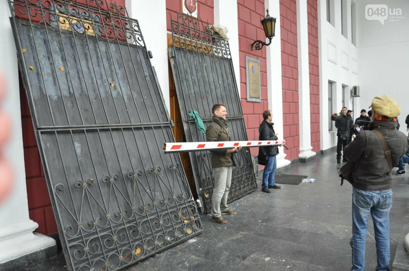 Мэрию Одессы основательно заблокировали: Как это было (ФОТО, ВИДЕО), фото-8