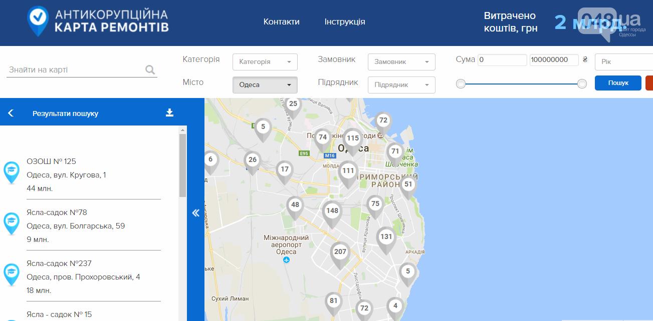 По виртуальной карте одесситы могут узнать, сколько денег выделили на ремонт их дома (ФОТО), фото-1