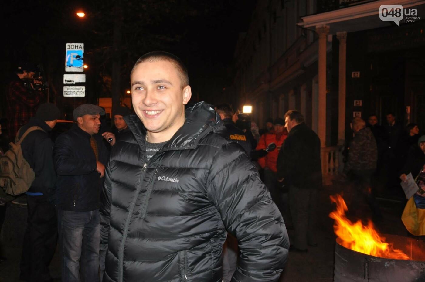 Сергей Стерненко сразу после освобождения приехал под одесскую прокуратуру (ФОТО, ВИДЕО), фото-3