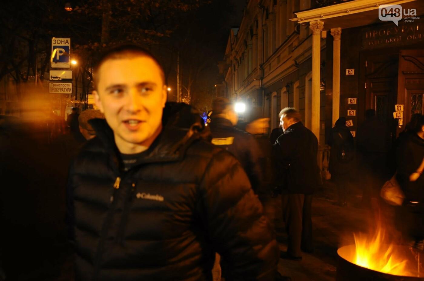 Сергей Стерненко сразу после освобождения приехал под одесскую прокуратуру (ФОТО, ВИДЕО), фото-1