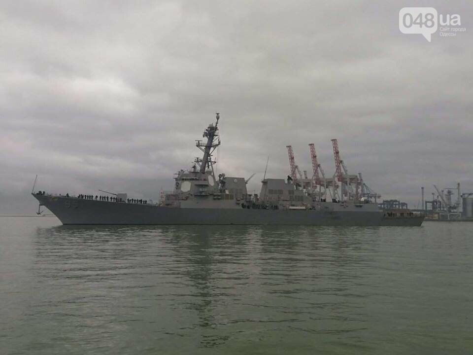 Одессу с моря прикрыл новейший американский эсминец (ФОТО), фото-2