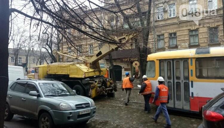 В центре Одессы с рельсов сошел трамвай (ФОТО), фото-1
