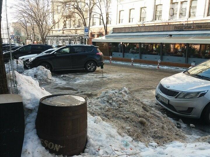 Центр Одессы: грязь, лёд, угрожающие прохожим сосульки (ФОТО, ВИДЕО), фото-7