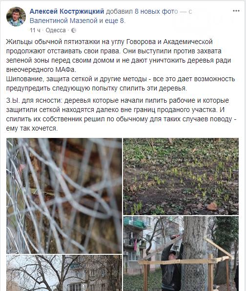 Активисты нашли интересный способ защитить одесские деревья от незаконной вырубки (ФОТО), фото-1