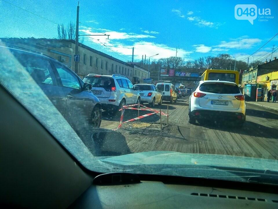 3 часа на работу: Дорожные работы полностью парализовали сообщение центра Одессы с Котовского (ФОТО), фото-3