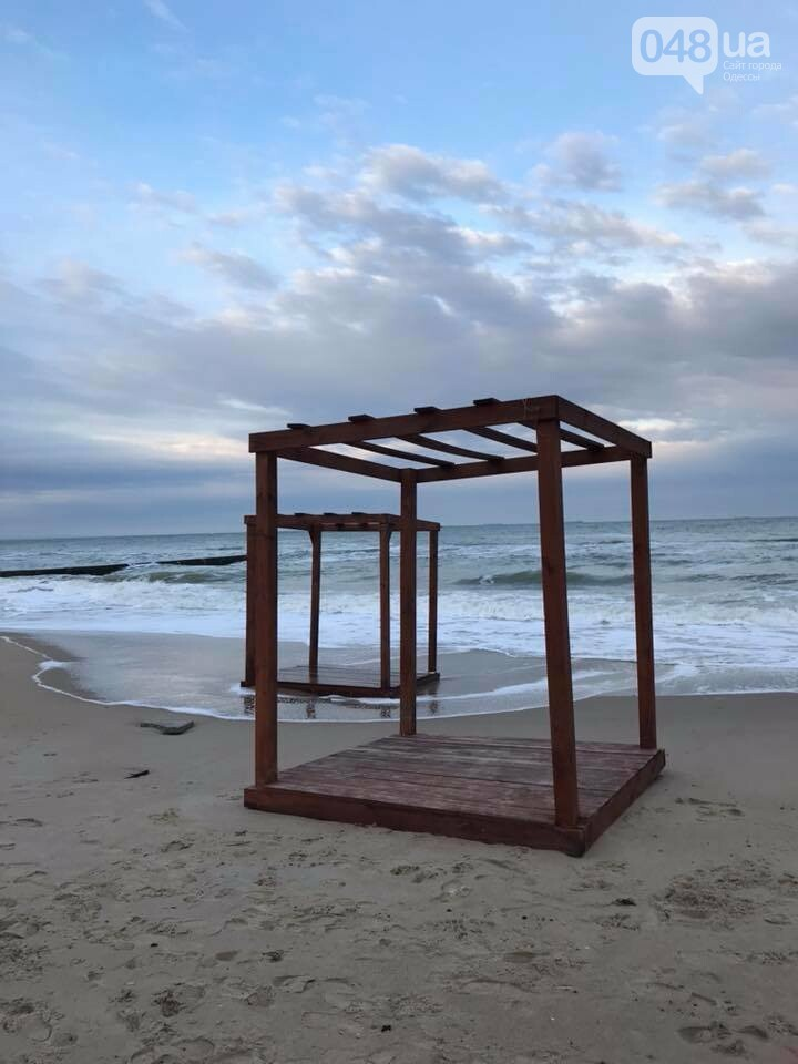 Красота: Море, небо и геометрия на одесском пляже (ФОТО) , фото-3