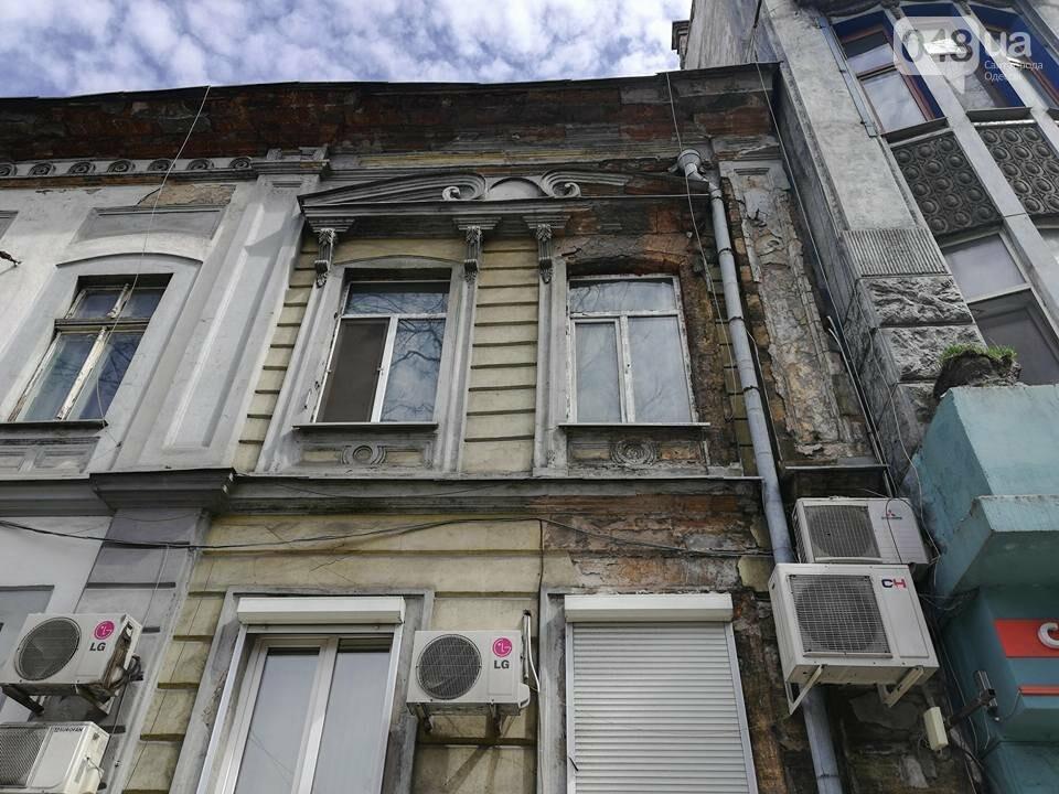 В Одессе обвалился фасад на Пушкинской (ФОТО), фото-3