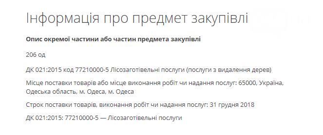 Одесские чиновники ищут желающих рубить деревья: платят по 3000 гривен за дерево (ФОТО) , фото-1