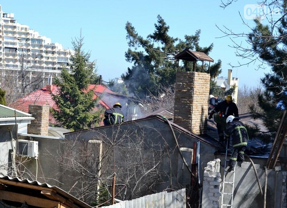 В одесской Аркадии сгорела фешенебельная баня (ФОТО, ВИДЕО), фото-2