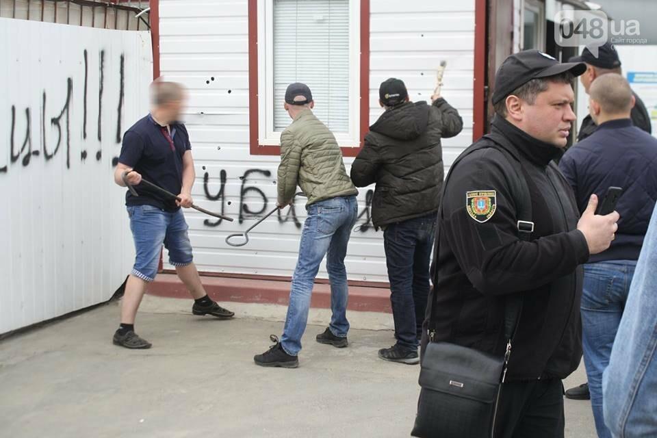 В Одессе активисты разгромили газовую заправку (ФОТО), фото-3