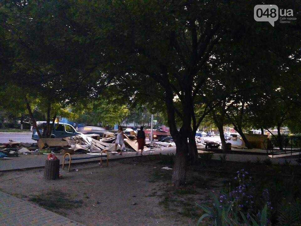 На Котовского в Одессе сносят стихийный рынок, - ФОТО, фото-2