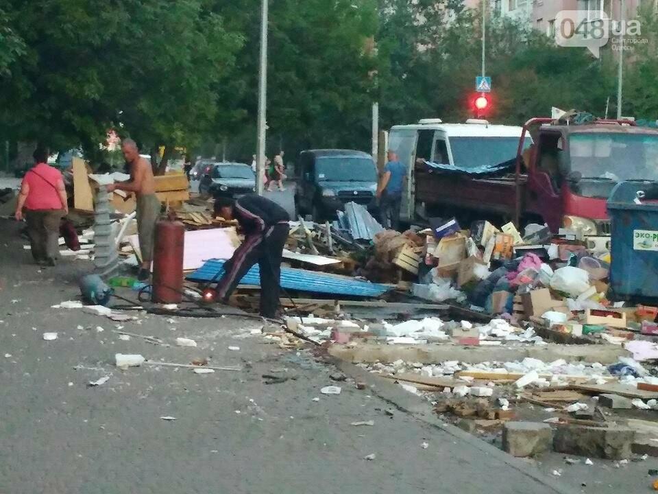 На Котовского в Одессе сносят стихийный рынок, - ФОТО, фото-1