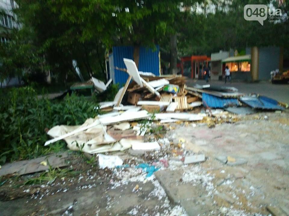 На Котовского в Одессе сносят стихийный рынок, - ФОТО, фото-6