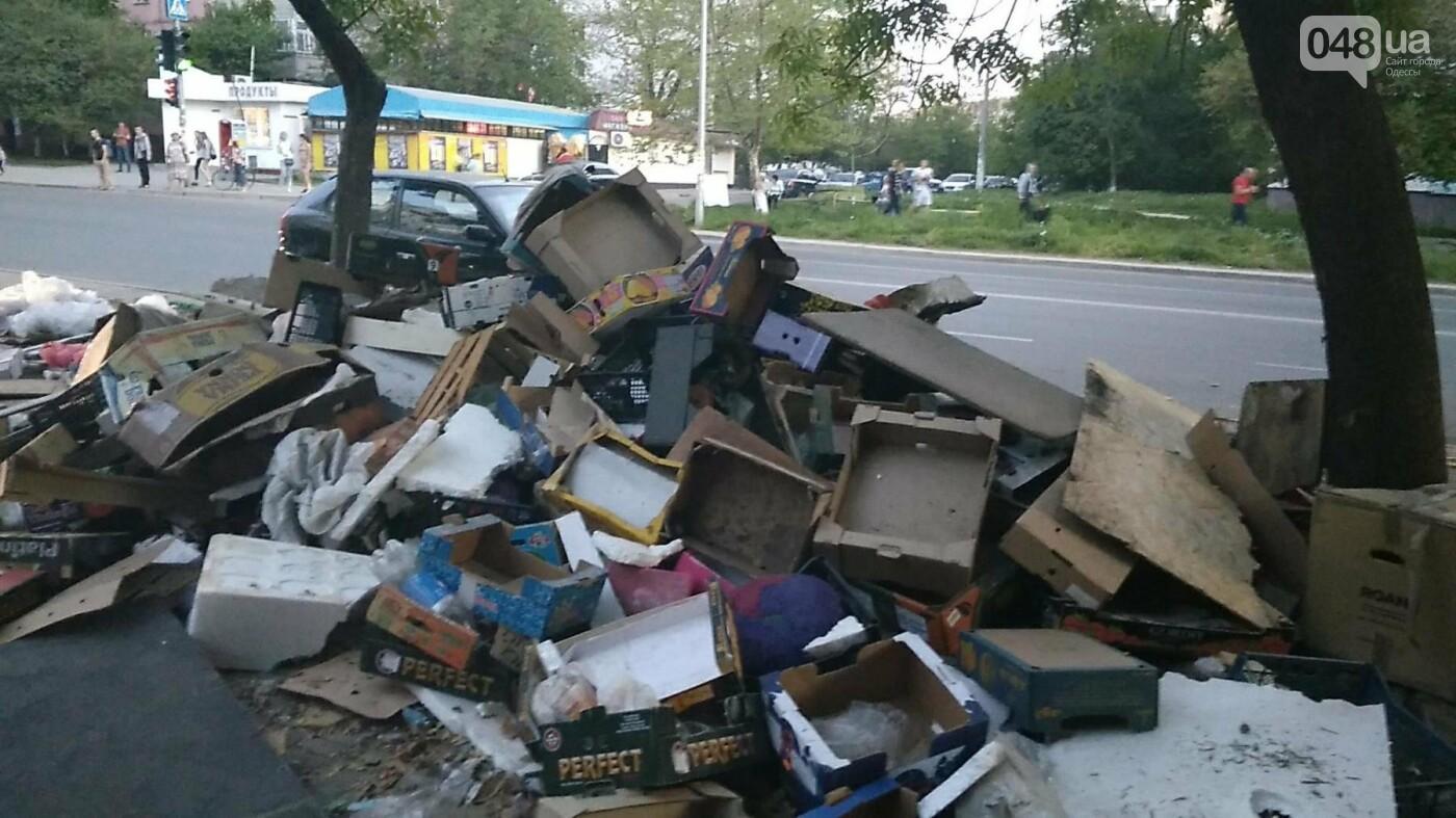 На Котовского в Одессе сносят стихийный рынок, - ФОТО, фото-4