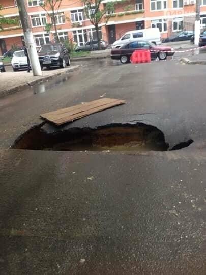 В Одессе провалилась дорога, - ФОТО, фото-3
