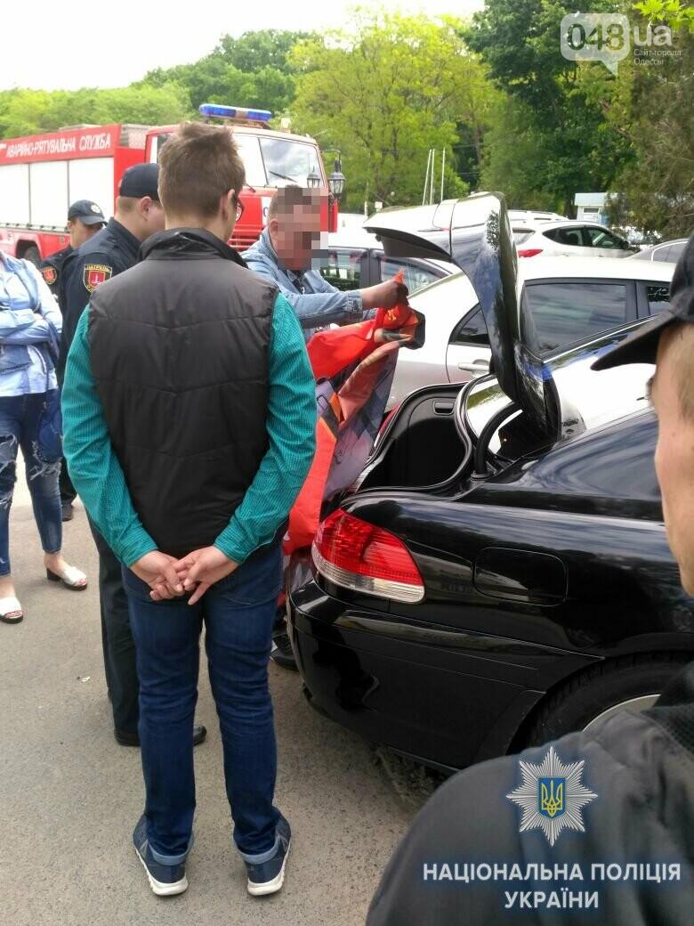 В полиции рассказали, кто поднимал красные флаги в Одессе 9 мая, - ФОТО, фото-4